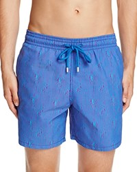 Vilebrequin Moorea Space Jellyfishes Swim Trunks Sky Blue