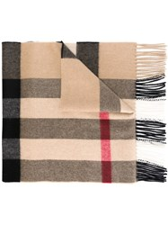 Burberry Checked Scarf Nude And Neutrals