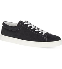 Sandro Suede Lace Up Trainers Black