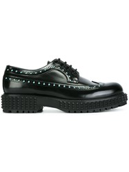 Valentino 'Punky Ch' Studded Derby Shoes Black