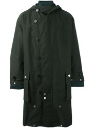 Diesel Black Gold Zipped Hooded Coat Green