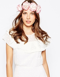 Aldo Cadenna Flower Hair Garland Pink