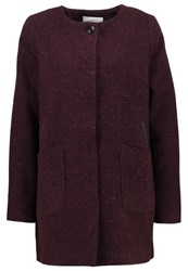 Elvine Payton Short Coat Wine Melange Mottled Bordeaux