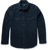 Steven Alan Cotton Moleskin Shirt Jacket Blue