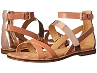 Enzo Angiolini Jeat Light Natural Light Gold Leather Women's Sandals Neutral