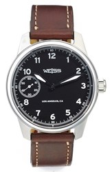 Men's Weiss Watch Company 'Standard Issue' Leather Strap Watch 42Mm