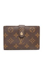 Wgaca Louis Vuitton Long Snap Wallet Previously Owned Monogram