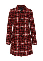 Hallhuber Retro Inspired Houndstooth Coat Multi Coloured Multi Coloured