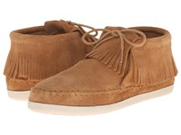 Minnetonka Venice Taupe Suede Women's Shoes