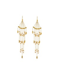 Nakamol Golden Pearl Dripping Chain Earrings Women's