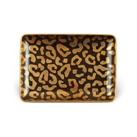 L'objet Leopard Rectangular Tray Small