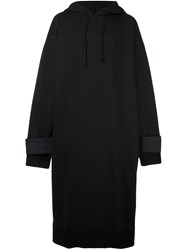 D.Gnak Oversized Long Hoodie Black