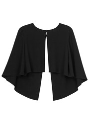 Paule Ka Black Split Back Cape