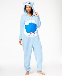 Briefly Stated Fuzzy Care Bear Hooded Jumpsuit Grumpy Bear