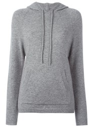 Chinti And Parker Stripe Track Hoodie Grey