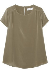 Mih Jeans Circle Silk Charmeuse Top