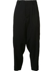 Yohji Yamamoto 'Out Pocket Buckle' Trousers Black