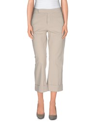 Douuod Trousers 3 4 Length Trousers Women Beige