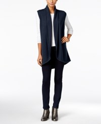 Styleandco. Style Co. Shawl Collar Sweater Vest Only At Macy's Industrial Blue