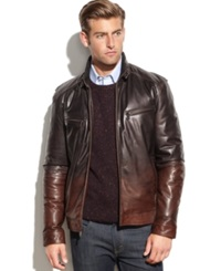 Boston Harbour Leather Ombre Moto Jacket