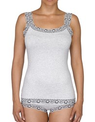 Hanky Panky Heather Jersey Camisole Ivory Coal