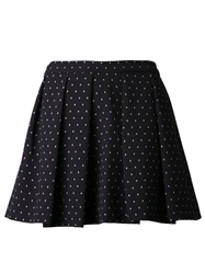 Thakoon Addition Polka Dot Skirt Blue