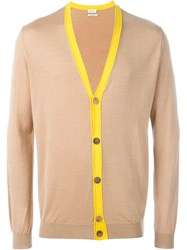 Paul Smith Contrast Placket Cardigan Brown