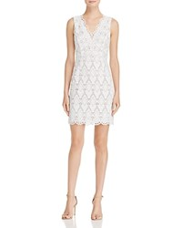Aqua Diamond Lace Dress White Nude