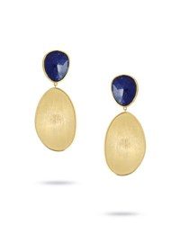 Marco Bicego Lunaria Lapis Two Drop Earrings