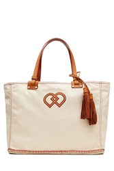 Dsquared2 Cotton Tote With Leather Beige