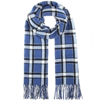 Marc By Marc Jacobs Toto Plaid Scarf Skipper Blue Multi