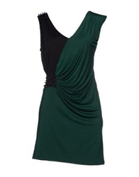 Boutique De La Femme Short Dresses Emerald Green