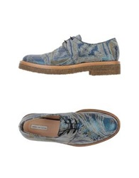 Dries Van Noten Lace Up Shoes Deep Jade