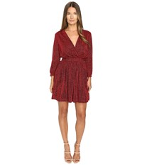 Just Cavalli Lurex Solid Crossover Dress Corallo Red