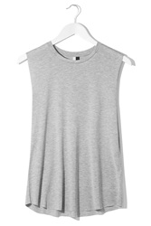 Raw Edge Jersey Tank Top By Boutique Grey Marl