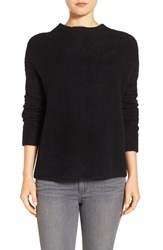 Eileen Fisher Women's 'Boucle Bliss' Cashmere And Silk Blend Funnel Neck Sweater Black