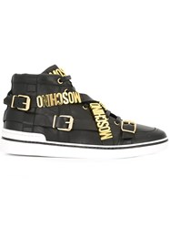 Moschino Logo Plaque Sneakers Black