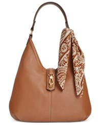 Tignanello Cargo Hobo Bag Cognac