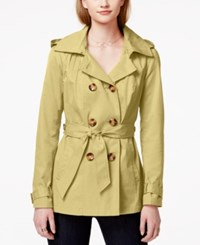Madden Girl Madden Girl Double Breasted Hooded Trench Coat Khaki