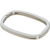 Barneys New York Men's Silver Rounded Rectangle Key Ring No Color