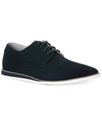 Calvin Klein Kellen Suede Wedge Lace Up Men's Shoes Navy