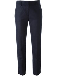 Piazza Sempione Tailored Cropped Trousers Blue