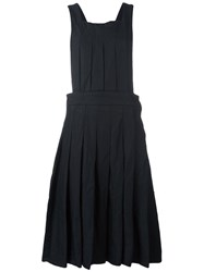Comme Des Garcons Pleated Overall Dress Black