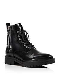 Kendall And Kylie Jordana Lace Up Combat Booties Black