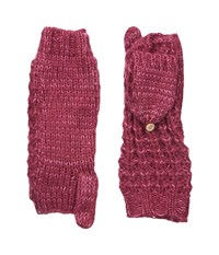 Coal The Kate Mitten Berry Wool Gloves Burgundy