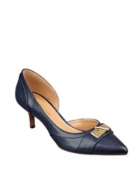 Tommy Hilfiger Joetta Kitten Heel Pumps Blue