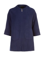Lavand A Line Coat Blue