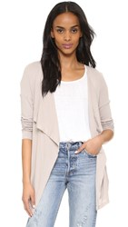 Three Dots Luz Draped Cardigan Sand