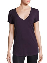 Paige Lynnea Deep V Neck T Shirt Vineyard