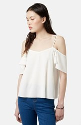 Women's Topshop Tie Strap Cold Shoulder Top